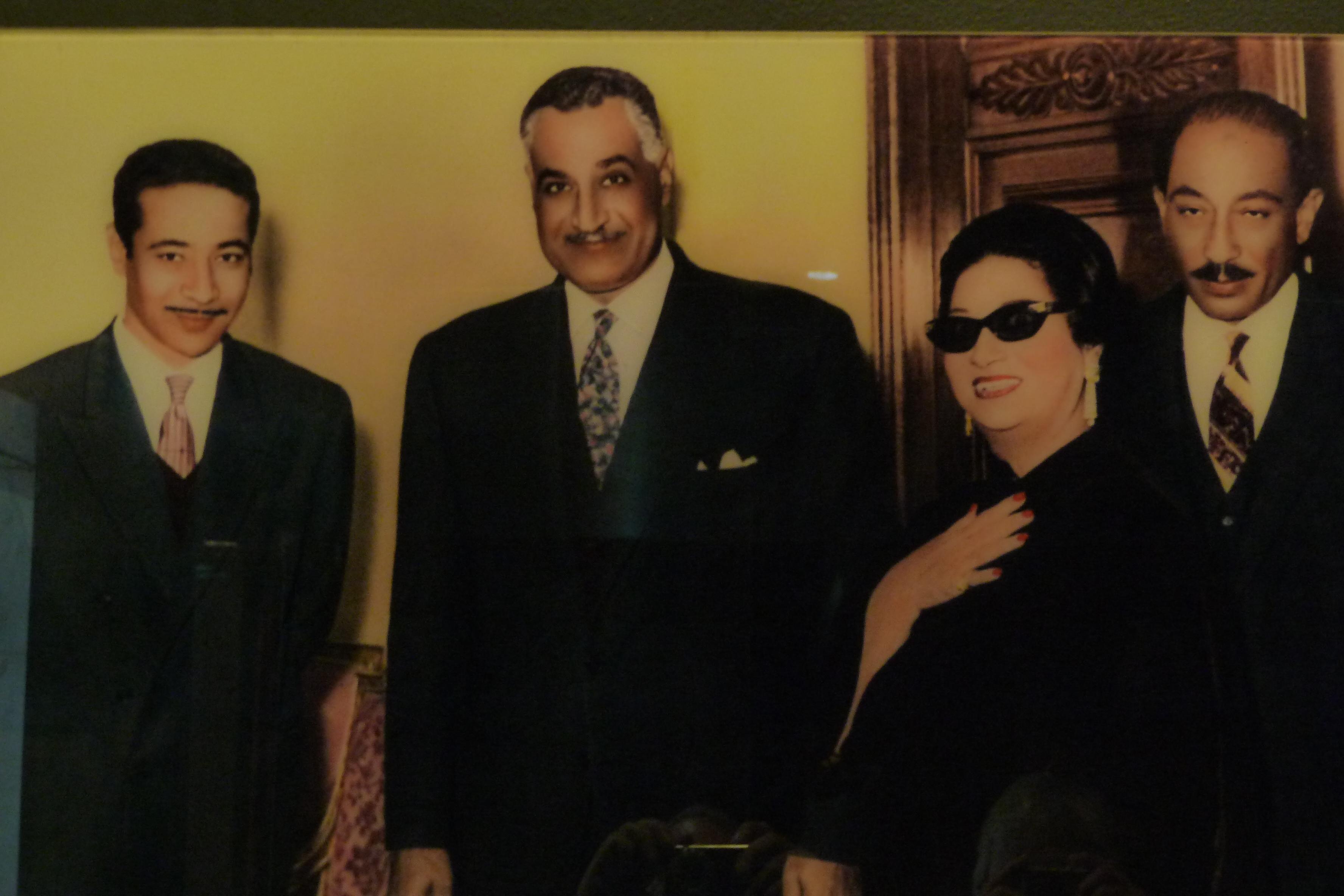 Nasszer, illetve a későbbi Szadat elnökkel