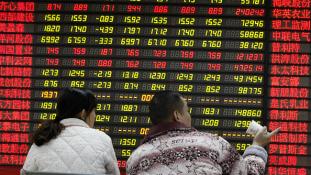 Óriási áresés a sanghaji tőzsdén
