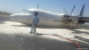 Futómű nélkül landolt egy utasszállító repülőgép a nairobi repülőtéren