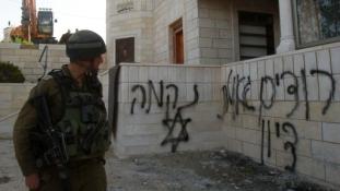 Zsidó szélsőségesek támadtak keresztény épületekre Jeruzsálemben