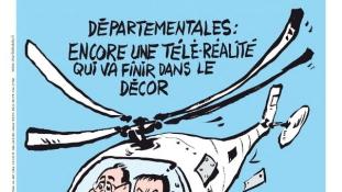 A Charlie Hebdo címlapjára került az argentin helikopterbaleset