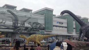 Dinók leptek el egy japán vasútállomást