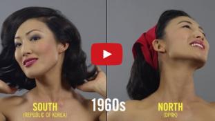 Így változott a női szépség Észak-és Dél-Koreában