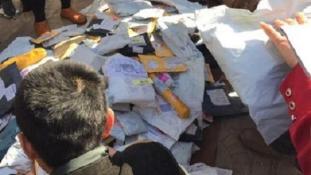Postabörze a kínai utcákon