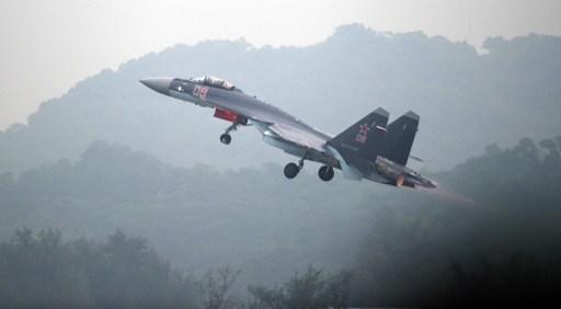 Egy kínai Szu-35-ös