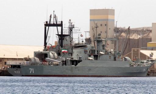 Alvand iráni hadihajó Port Szudánban. 2014-ig rendszeresen kötöttek ki iráni hadihajók az afrikai országban.