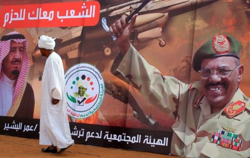 Választási plakátokon hirdetik Szudán részvételét a jemeni háborúban.