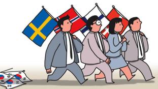 Egyre több dél-koreai fiatal megy Északra, mármint Észak-Európába