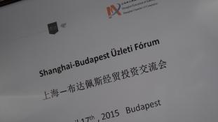 Sanghaj – Budapest üzleti fórum