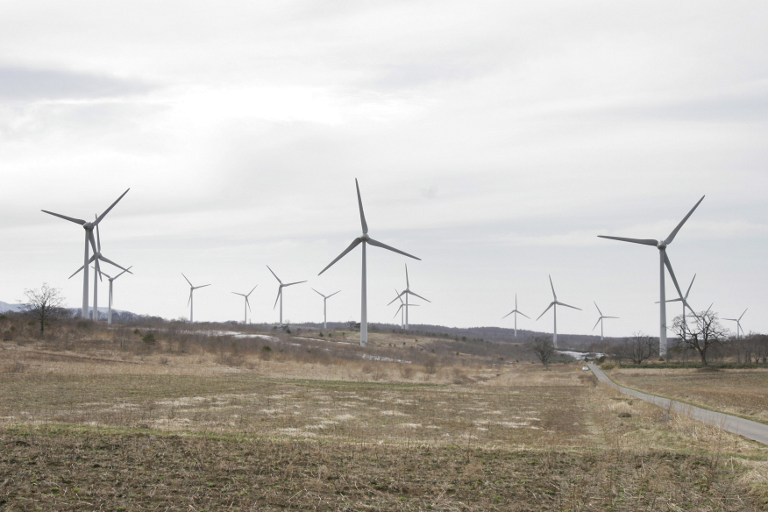 JAPAN-CLIMATE-WARMING-ENERGY-WIND