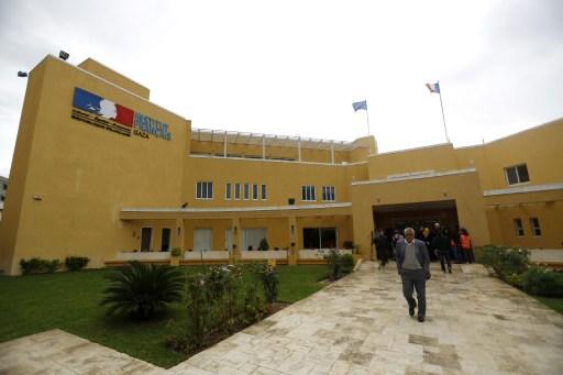 A gázai francia kulturális intézet a támadás előtt.