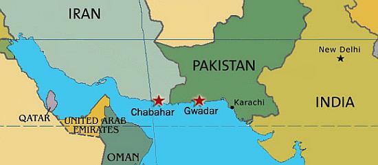 Gwadar és Chabahar kikötő.