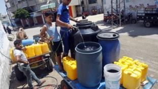 Kevés a víz Gázában, és az is sós