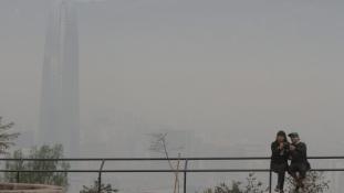 Szmogriadó Santiago de Chilében
