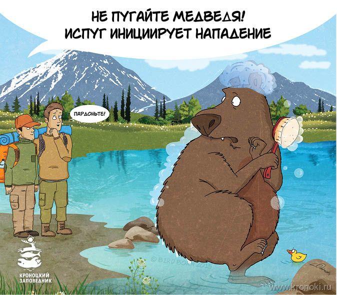 Medvét riogatni tilos, az ijedt állat megtámadhat!