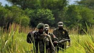 Kongói katonák a brit olajtársaság zsoldjában