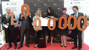 BUDAPEST AIRPORT GREETS 1 MILLIONTH MONTHLY PASSENGER