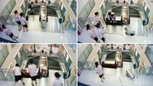 Horror a plázában: gyilkolt a mozgólépcső Kínában