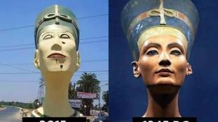 Békegalambra cserélik a Frankensteinre hajazó Nofertitit
