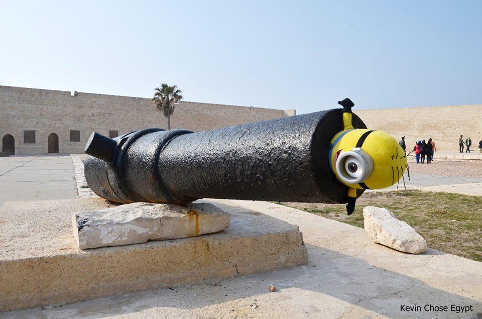 Huncutkodás a Kait Bej erődnél, Alexandriában.