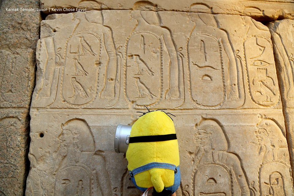 A karnaki templomban, Luxorban.