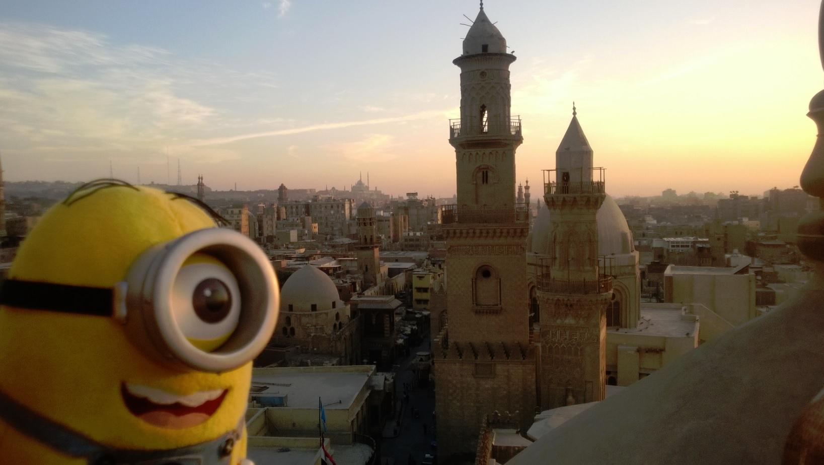Naplementében, Ó-Kairóban.