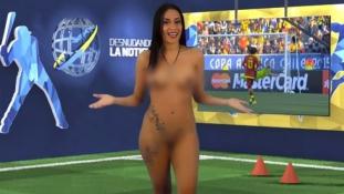 Cristiano Ronaldo után Pirlónak vetkőzött adásban a műsorvezető lány (videóval)