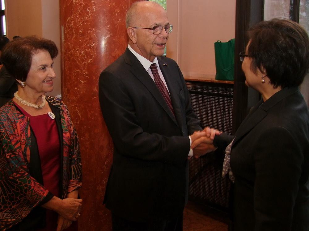 Valter Pecly Moreira Brazília Magyarországra akkreditált nagykövete és felesége