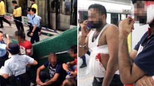 Vérfürdő a hongkongi metróban