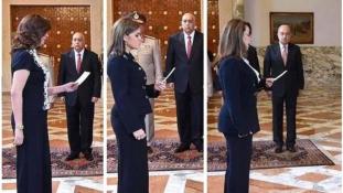 Ruhája miatt bírálják Egyiptomban az új kormány egyik női miniszterét