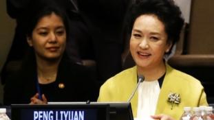 Kína first lady-je lenyűgözte az ENSZ-t