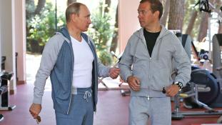 Mémeken a Putyin-Medvegyev edzés