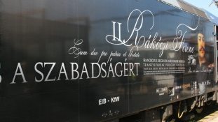 II. Rákóczi Ferenc mozdonnyal a Kassai-őrjáraton