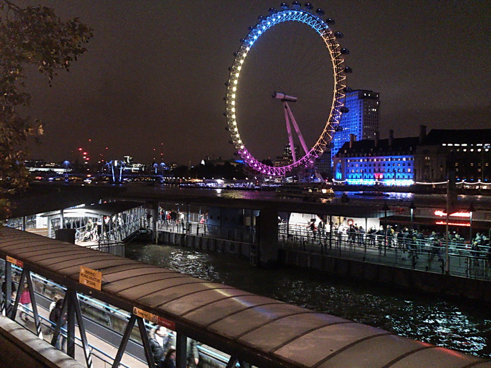 a Temze partja és a London Eye