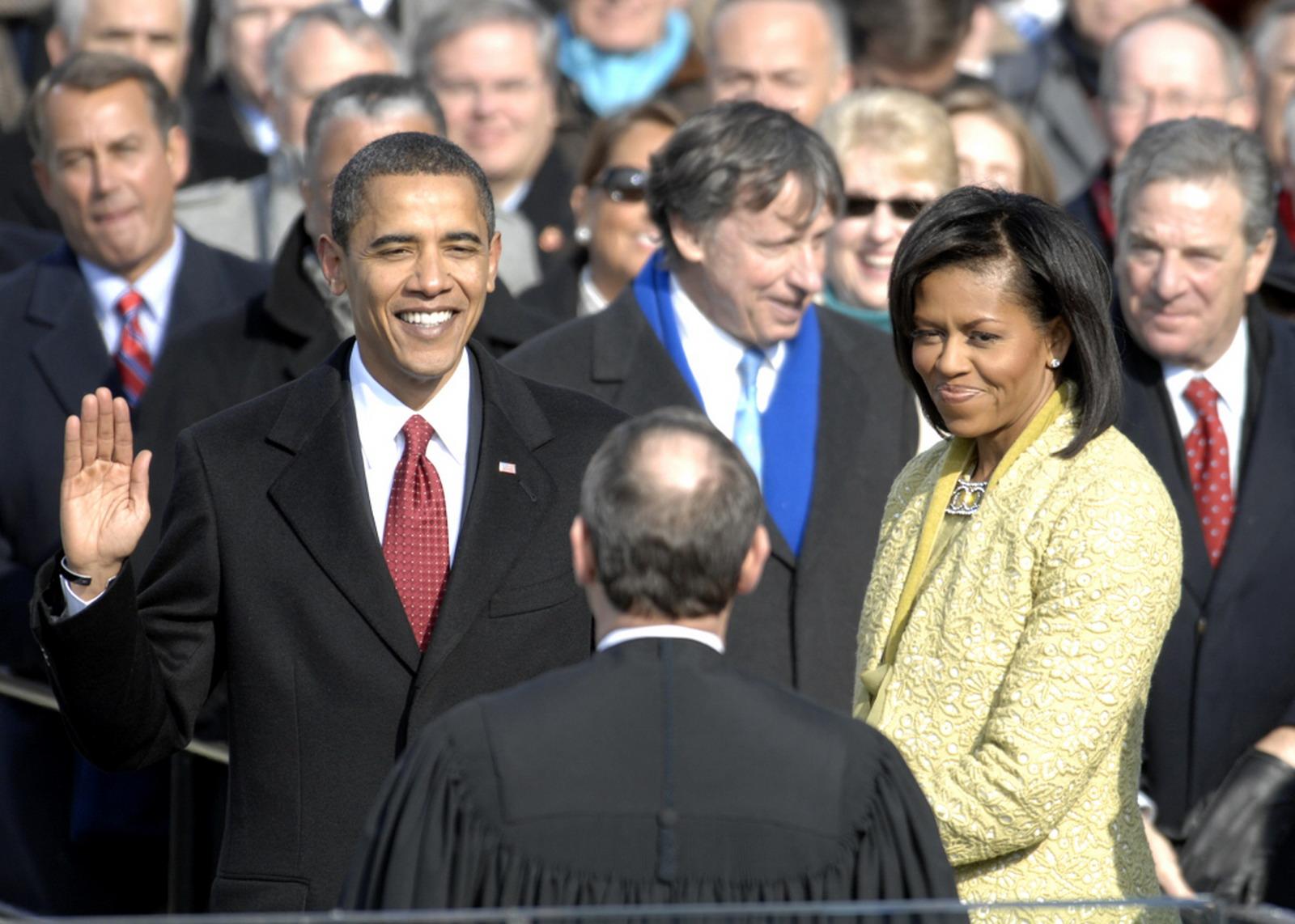 Barack Obama elnöki beiktatása 2009. január 20-án (Kép: Wikipedia)