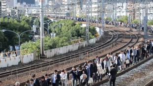 Ennyire rendezett egy japán evakuálás (Videó)