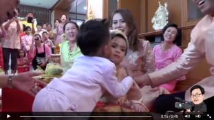 Extravagáns esküvő a hároméves ikreknek