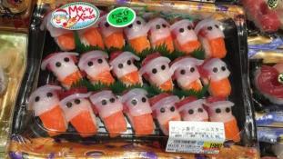 Mikulás sushi karácsonyra