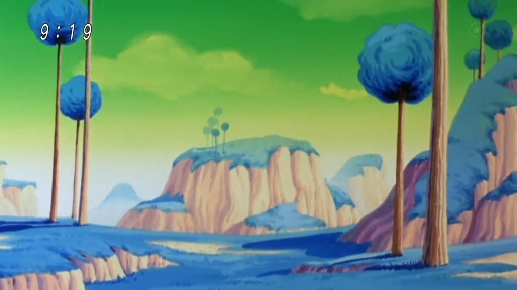 A Namek bolygó a sorozatban.