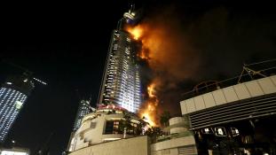 Rövidzárlat okozhatta a dubaji hoteltüzet szilveszterkor