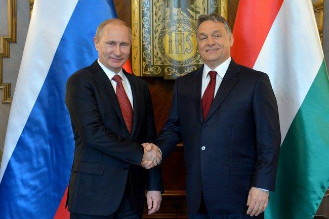 Vlagyimir Putyin és Orbán Viktor Budapesten 2015. február 17-én