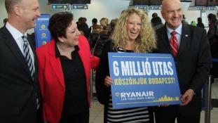 Már hatmillió magyar utazott a Ryanairrel