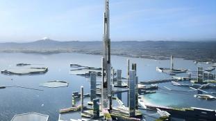 Ilyen lesz a futurisztikus új Tokió, 1600 méteres felhőkarcolóval