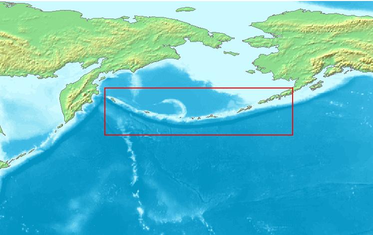 Aleut-szigetek (Wikimedia Commons)
