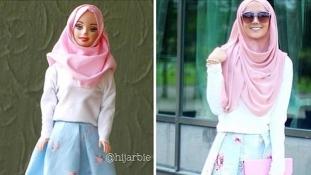 Barbie muszlim fejkendőt köt