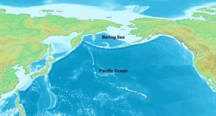 A Bering-tenger és a Csendes-óceán (Wikipedia)