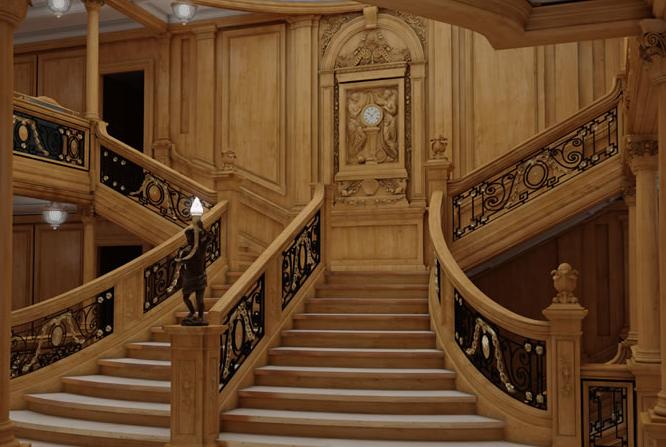 Legendás lépcső is pontosan le van másolva.