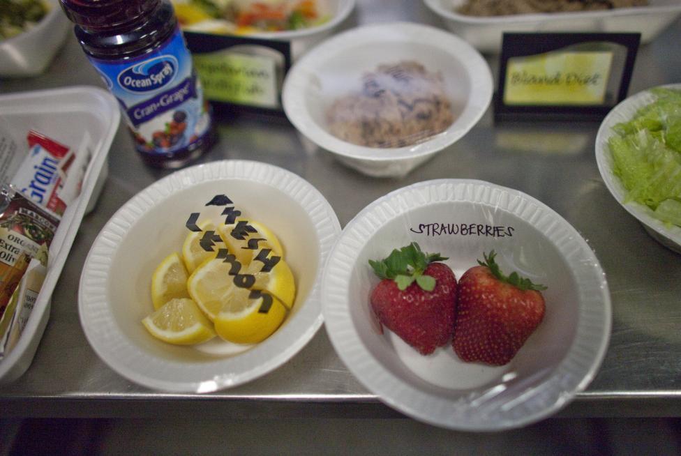 Az ételkínálat egy része, 2013. március 7.
