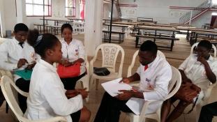 Egyetemen Kamerunban