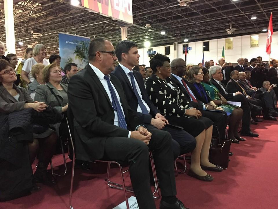 Balogh Sándor, a Magyar Afrika Társaság elnöke mellett  Dr. Czepek Gábor közigazgatási államtitkár, Nemzeti Fejlesztési Minisztérium. A minisztérium a rendzvény magyarországi fővédnöke.